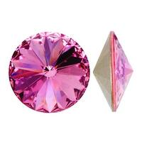 Swarovski Elements Crystal, 1122 Rivoli Fancy Stones 14mm, 2 Pieces, Rose Sf