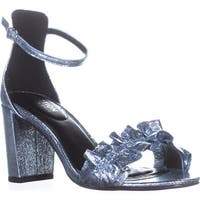 Kenneth Cole Rise Ruffle Ankle-Strap Sandals, Storm