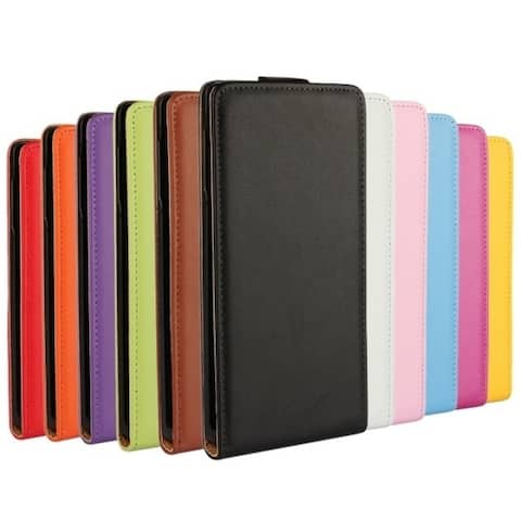 11 Colors Fashion Genuine Leather Vertical Skin Pouch Covers Case For Sony Xperia Z4 Magnetic Closure Protective Phone Case