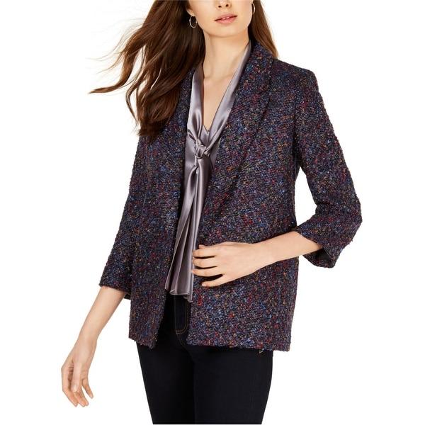 Nine West Womens Textured Blazer Jacket, Multicoloured, Medium. Opens flyout.