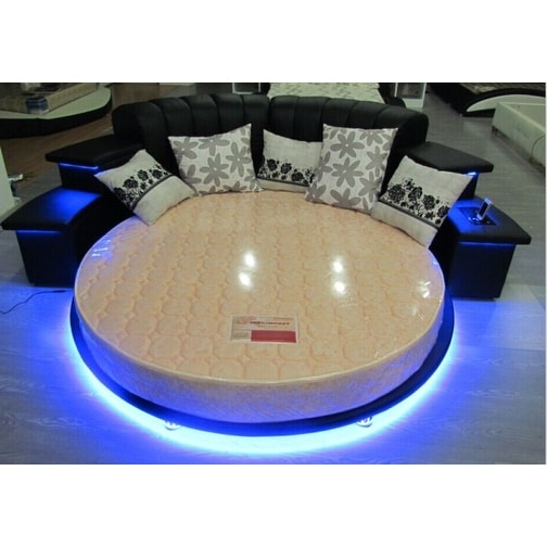 Luxury Design Modern Round Bed With LED Lights King   Free Shipping Today    Overstock.com   20091487