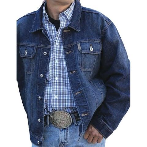 Cinch Western Jacket Mens Button Front Denim Dark Wash