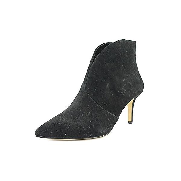 424 Fifth Womens Darren Booties Ankle Pointed Toe Black 6 Medium (B,M) - 6 medium (b,m)