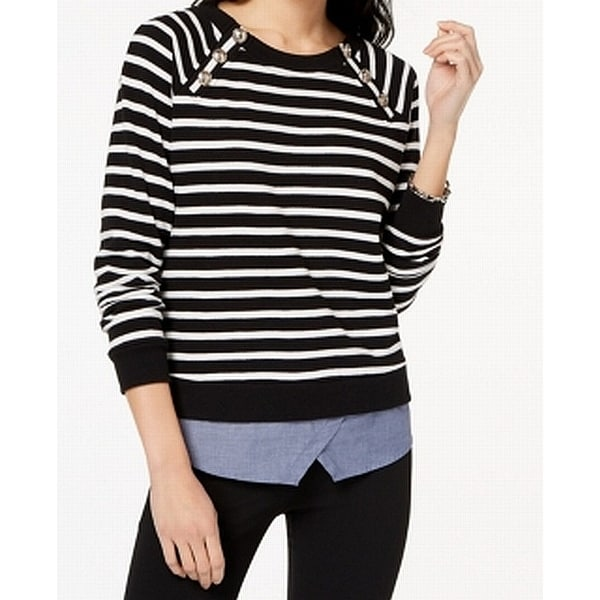 31dc07c7fbf Shop Tommy Hilfiger Women s Plus Striped Pullover Sweater - Free Shipping  On Orders Over  45 - Overstock.com - 27050668