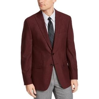 Link to Calvin Klein Mens Sportcoat Jacquard Slim Fit - Burgundy - 40R Similar Items in Sportcoats & Blazers