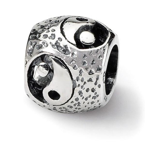 Sterling Silver Reflections Yin Yang Bead (4mm Diameter Hole)