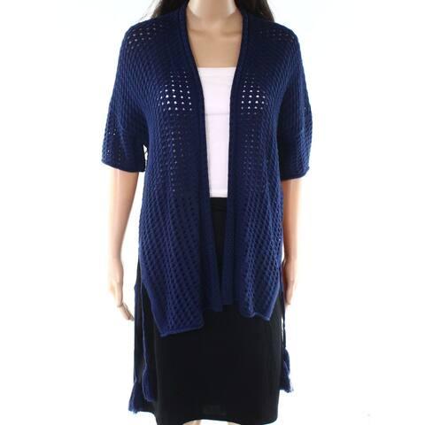 Michael Stars Navy Blue Womens Size XS Cardigan Tassel Sweater
