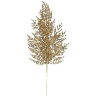 "24"" Luxury Lodge Gold Artificial Cedar Christmas Spray"