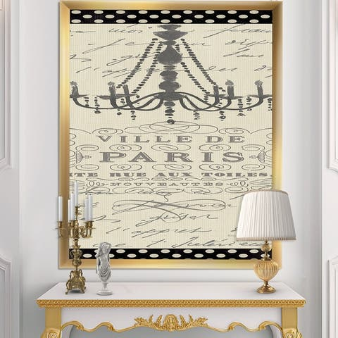 Designart 'French chandeliers Couture I' Fashion Premium Framed Art Print