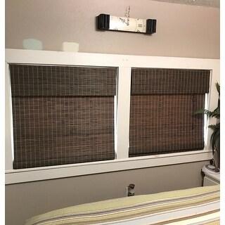 Arlo Blinds Privacy Grey Wash Bamboo Shade