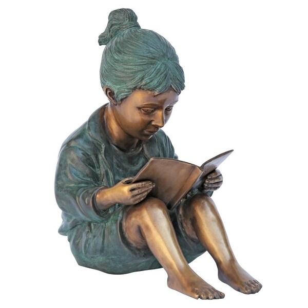Design Toscano Story Book Girl Bronze Garden Statue