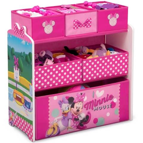 Disney Minnie Mouse 6 Bin Design and Store Toy Organizer by Delta Children