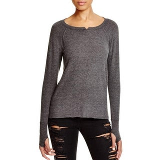 Michael Stars Womens Madison Brushed Jersey Pullover Top Knit Heathered