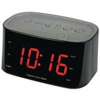 "Sylvania Scr3130Bt-Black 1.2"" Bluetooth(R) Dual Alarm Clock Radio (Black)"