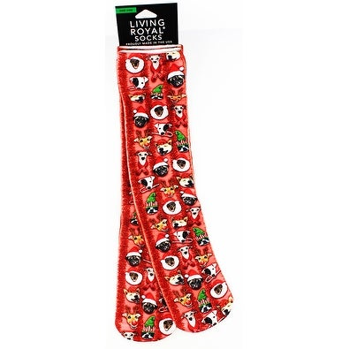 Christmas Dogs Knee High Socks - Multi