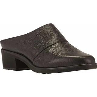 Walking Cradles Women's Caden Black Tooled Leather
