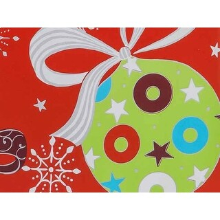 """Pack Of 1, 24"""" x 417' Christmas Ornaments Gift Wrap Counter Roll For 175 -200 Gifts Made In Usa"""