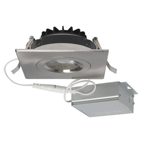 12W LED DW Downlight Gimbaled 4 in 3000K 120V Square Remote Driver