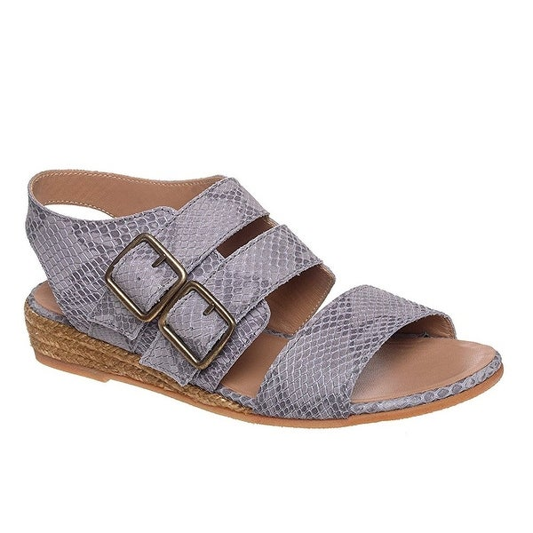 Eric Michael NEW Gray Noriko Shoes 9M Strappy Leather Sandals