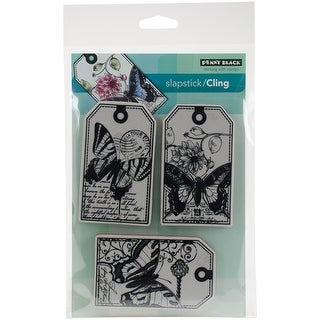 "Penny Black Cling Stamp 5""X7""-Butterfly Party"
