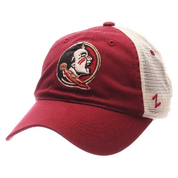 6079751bc3565b Shop Zephyr Hats NCAA Florida State Seminoles Washed Trucker Snapback  Baseball Cap - Free Shipping On Orders Over $45 - Overstock - 19402158