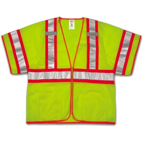 Tingley V70332-4X-5X Polyester Safety Vest, 4XL/5XL, Yellow & Green