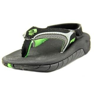 Reef Slap II Infant Open Toe Synthetic Black Flip Flop Sandal