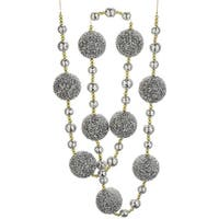6' Silver Ball and Gold Chained Holiday Ball Garland