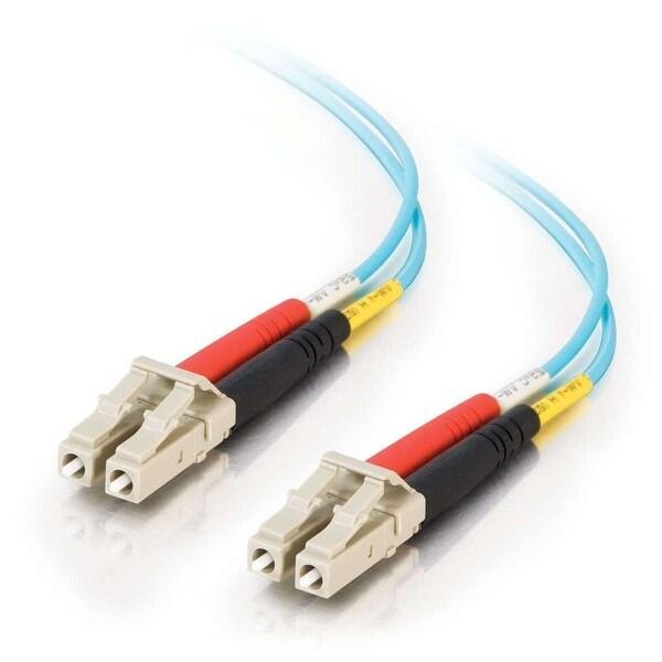 C2g 33045 1M Lc-Lc 10Gb 50/125 Om3 Duplex Multimode Pvc Fiber Optic Cable - Aqua