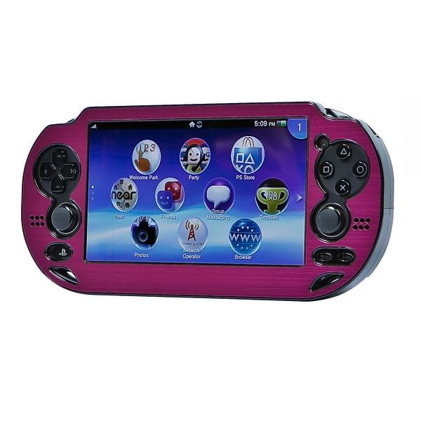 Monoprice PlayStation Vita Brushed Aluminum Clamshell Protective Case - Fuschia