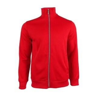 Perry Ellis Men's Zip Front Track Jacket (M, Mars Red) - mars red - M