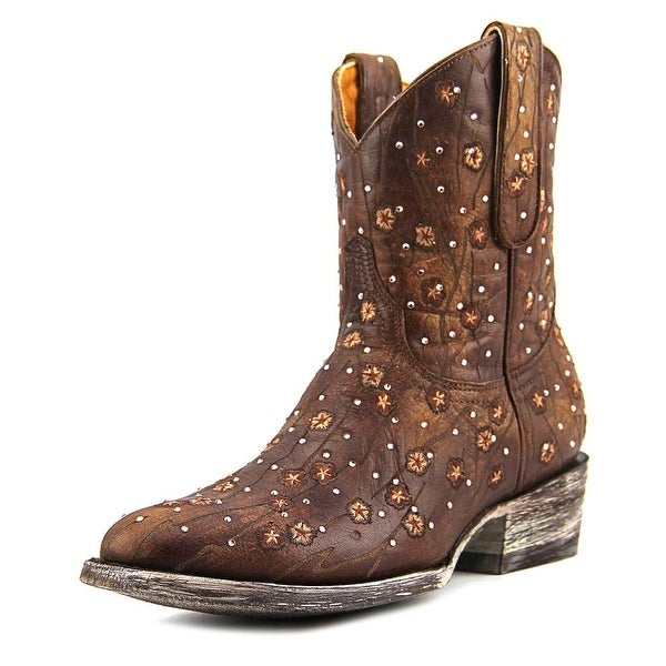 "Old Gringo Byroni 8"" Women Round Toe Leather Brown Western Boot"