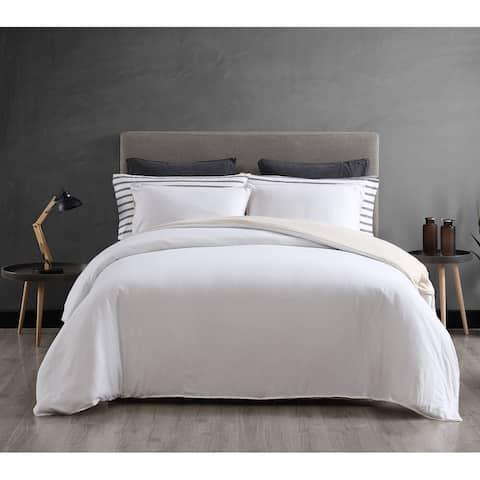 ED Ellen DeGeneres Washed Cotton White Comforter Set