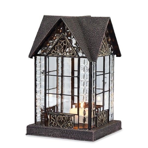House Candle Lantern - Devonshire House Tealight Holder - 6 in. x 6 in. x 9.13 in.