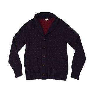 Merona Men's Long Sleeve Shawl Collar Button Down Cardigan Sweater - Large