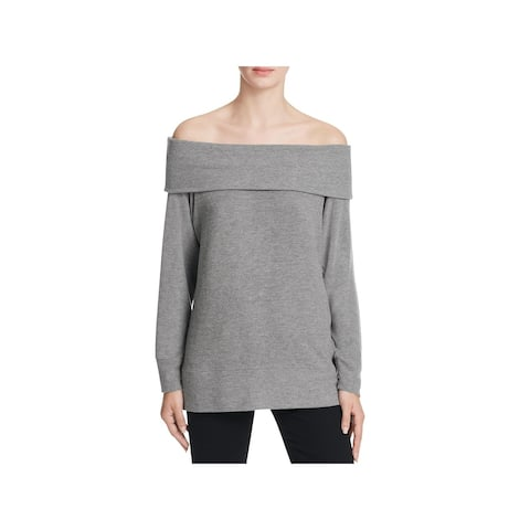 Cupcakes and Cashmere Womens Brooklyn Pullover Sweater Knit Off The Shoulder