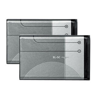 New Replacement Battery for Nokia BL-5C BL-5CA BR-5C BL-5CB Phone Models 2 Pack