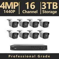 LaView 16 Channel UHD 4K IP NVR with (8) 4MP Bullet Cameras and a 3TB HDD