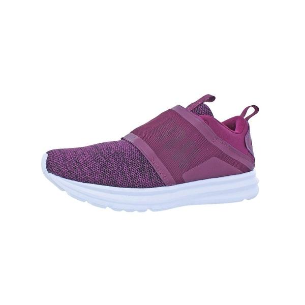 f086a061566 Puma Womens Enzo Strap Knit Fashion Sneakers Lace-Up Soft Foam - 7.5 medium  (