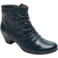 Rockport Women's Cobb Hill Abilene Ankle Boot Blue/Teal Leather