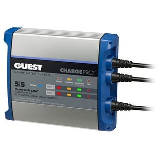 Guest On-Board Battery Charger 10A / 12V - 2 Bank - 120V Input