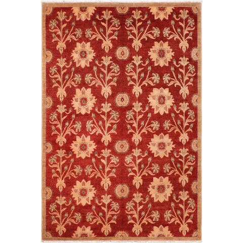 """Boho Chic Ziegler Audie Hand Knotted Area Rug -6'3"""" x 9'4"""" - 6 ft. 3 in. X 9 ft. 4 in."""