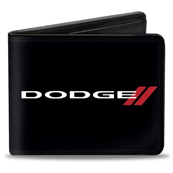 Dodge Red Rhombus Black White Red Bi Fold Wallet - One Size Fits most