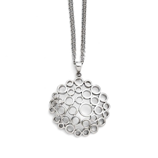 Chisel Stainless Steel Polished Multi-Circle Necklace (2 mm) - 18 in