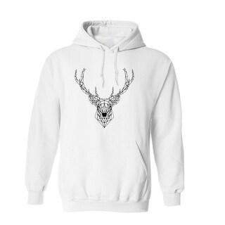 Deer Vector Outline Graphic Design Men's Hoodie