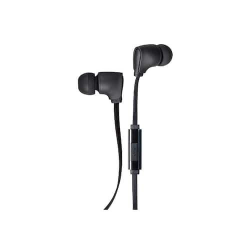 Monoprice Premium 3.5mm Wired Earbuds Headphones With Microphone And 10mm Drivers For Apple And Android Devices