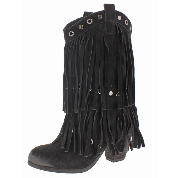 Naughty Monkey Kickin It Women's Western Fringe Cowboy Boots