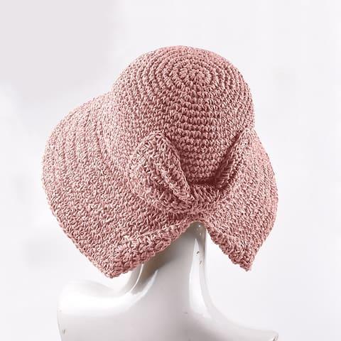 Women's Straw Hat With Big Side Sunshade