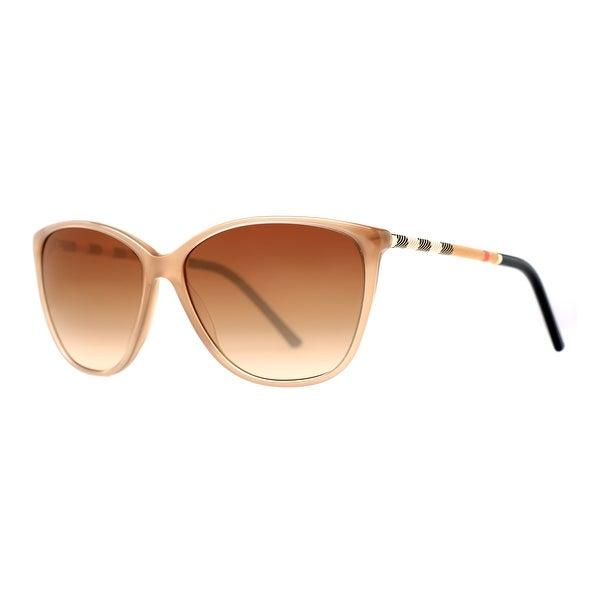 Burberry BE 4117 3012/13 Beige/Brown Gradient Women's Butterfly Sunglasses - Beige/Black - 58mm-14mm-140mm