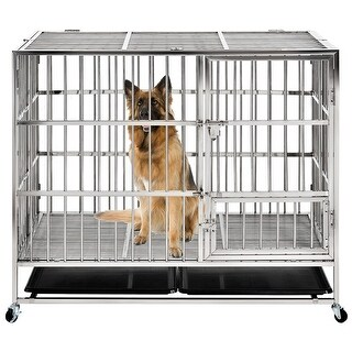 Link to 43 Inch Heavy duty Stainless Steel Pet Crate Similar Items in Dog Furniture